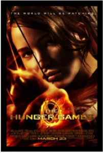 Jennifer Laurence as Katniss Everdeen in The Hunger Games